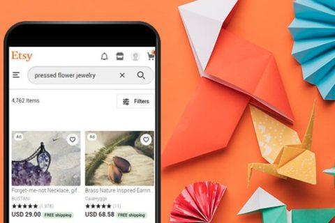 ETSY-mobile-version-e-commerce-screenshot-orange