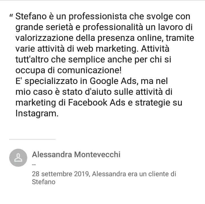 Segnalazioni-positive-LinkedIn-Stefano-Diversi-SEM-Specialist-Alessandra