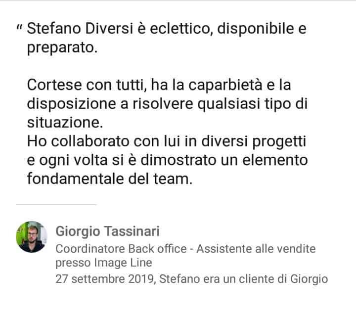 Segnalazioni-positive-LinkedIn-Stefano-Diversi-SEM-Specialist-Giorgio-Tassinari