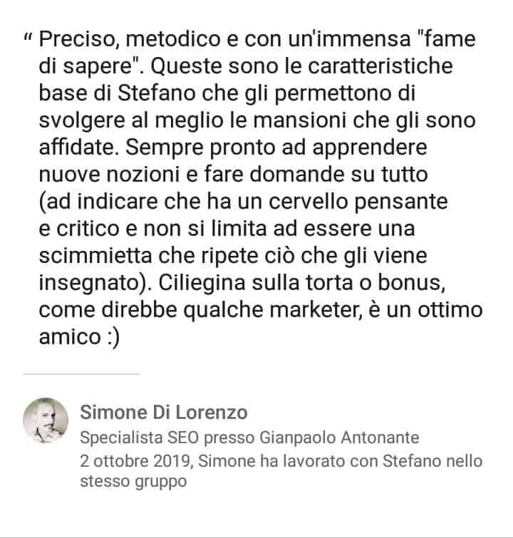 Segnalazioni-positive-LinkedIn-Stefano-Diversi-SEM-Specialist-Simone-Di-Lorenzo