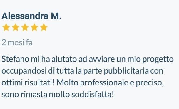 Testimonianze-positive-ProntoPro-Stefano-Diversi-SEM-Specialist-Alessandra