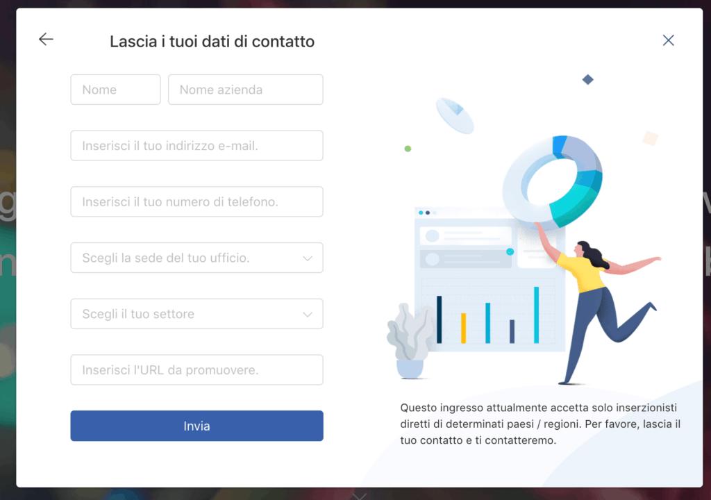 lascia-Dati-contatto-richiesti-per-creare-account-tiktok-ads-riferimenti-ufficio-URL
