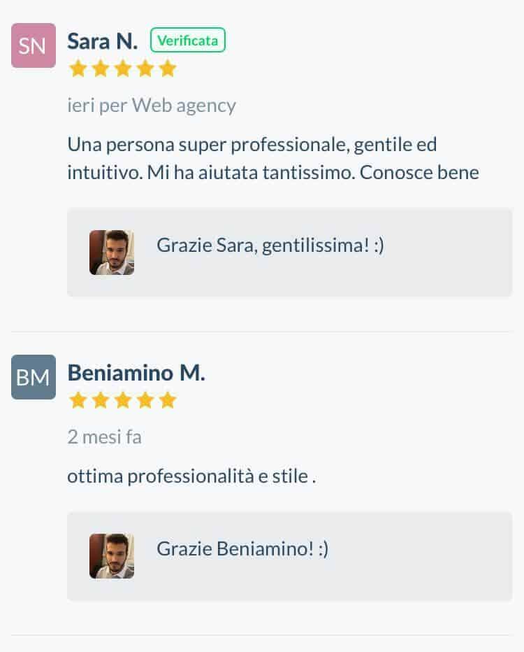 Testimonianze-positive-Recensioni-verificate-referenze-ProntoPro-Stefano-Diversi-SEM-Specialist-Stefano